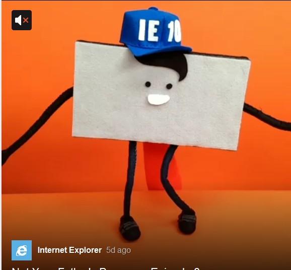 """[图]IE在""""卖萌"""" 微软用iOS应用制作IE 10宣传动画"""