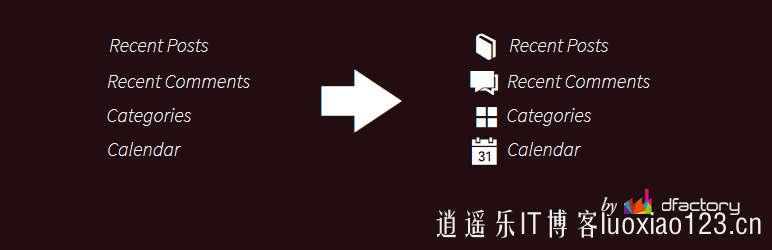wordpress小工具图标自定义插件Widget Icon汉化版 逍遥乐汉化