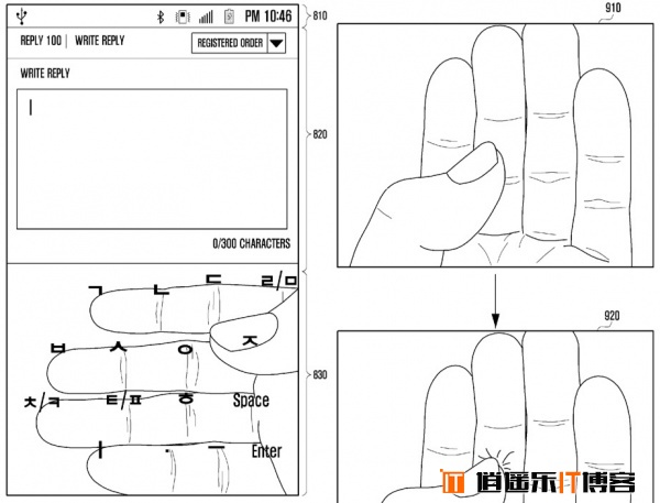 三星奇葩专利 利用手指做键盘