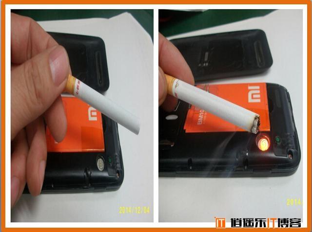 给米粉跪了!动手达人把小米1改造成了一个打火机点烟器!