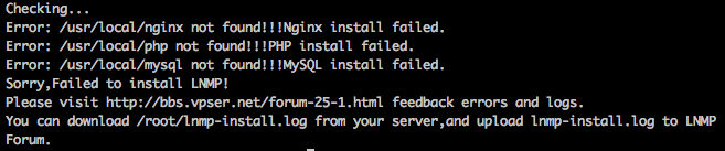 LNMP一键安装包详细安装教程