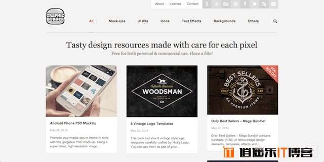 9个寻找免费设计素材和创意灵感的超棒国外设计素材网站
