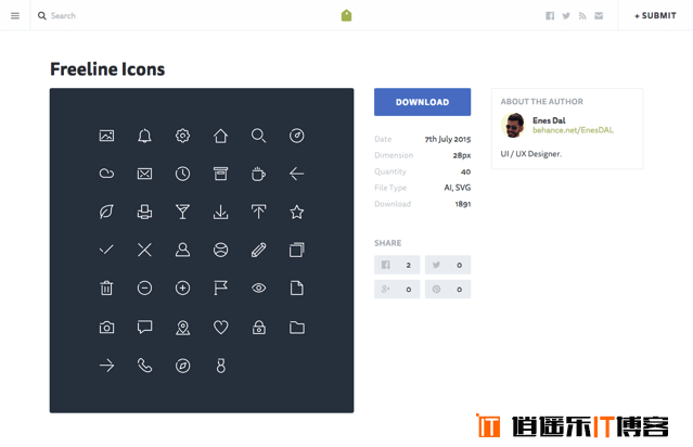 IconStore网站,集合世界顶尖设计师设计图标免费下载,可用于个人或商业项目开发