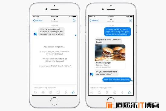 "Facebook推出虚拟机器人助手""M""APP移动应用"