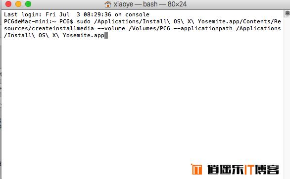 Mac OS X 10.10.4U盘系统启动安装盘制作教程