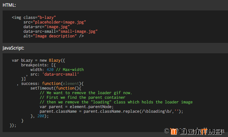 bLazy.js:轻量级支持响应式图片的lazyLoad脚本
