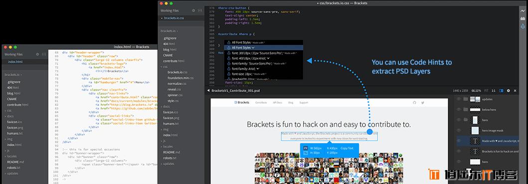 Adobe全新开源可视化网页代码编辑器Brackets最新免费版官方下载