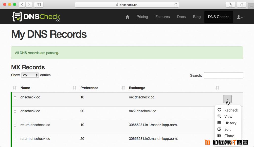 DNS Checks – 免费DNS监测服务