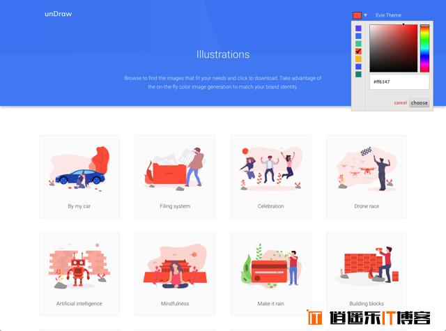 unDraw 可商用扁平化图示免费下载!适合用于网站、应用程序或简报设计