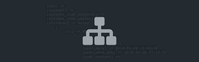 获取 WordPress 菜单的树形结构数组(对象)
