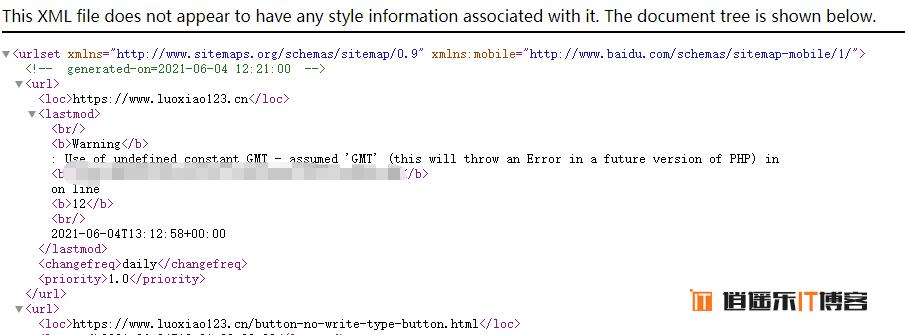 修复php警告Warning: Use of undefined constant GMT – assumed 'GMT' (this will throw an Error in a future version of PHP)