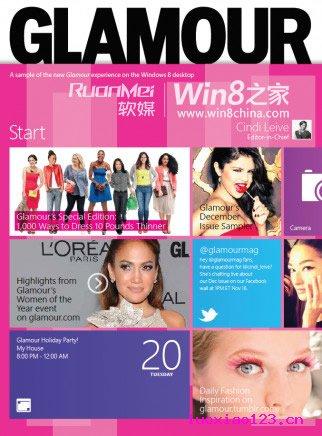 Win8 Style逆袭美国14款著名杂志封面