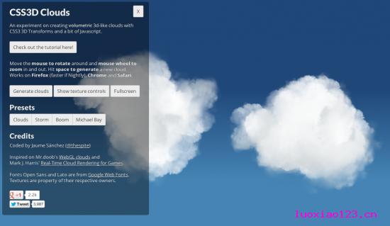 真是神了!10款伴随惊人动态效果的CSS3页面实验
