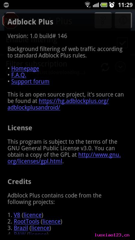 去广告神器Adblock Plus Android版来了!【汉化中文版+英文原版】