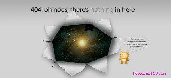 绝了!美丽的错误 - 23个创意的404错误页面玩赏