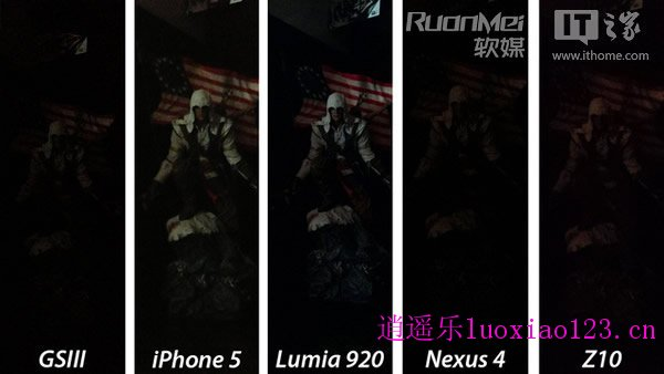iPhone5/Lumia920/GS3/Nexus4/Z10拍照比拼
