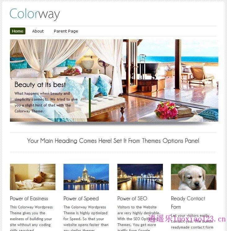 WordPress响应企业主题:ColorWay pro 3.0完全汉化版 修正版 逍遥乐汉化